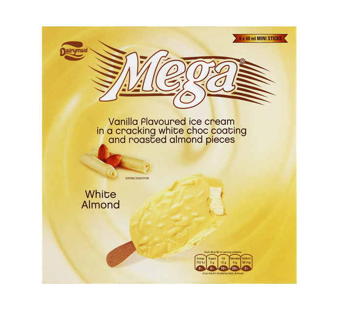 Mega Ice Cream Multipack White Almond (6 x 60ml)