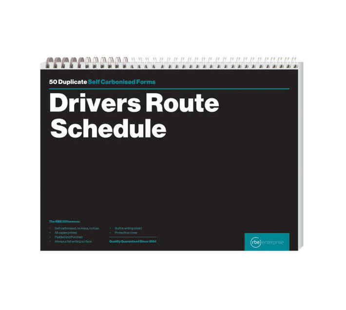 RBE: A4 Drivers Route Schedule Book (Pack of 3)