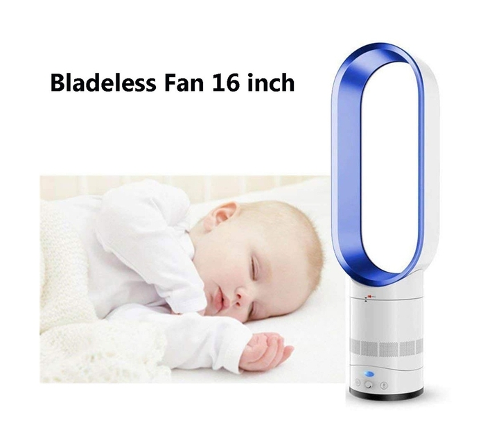 T4U Bladeless Fan with Remote (Silver/White) - 16inch