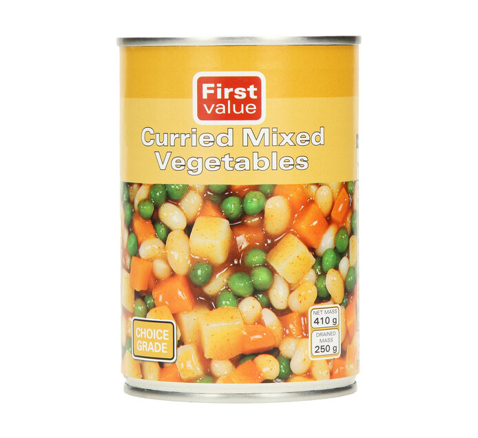 First Value Curried Mixed Vegetable (12 x 410g)
