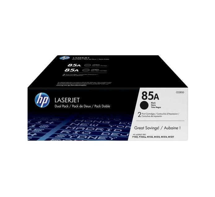 HP 85A BLACK DUAL PACK LASERJET TONER CARTRIDGE FOR M1210 SERIES (