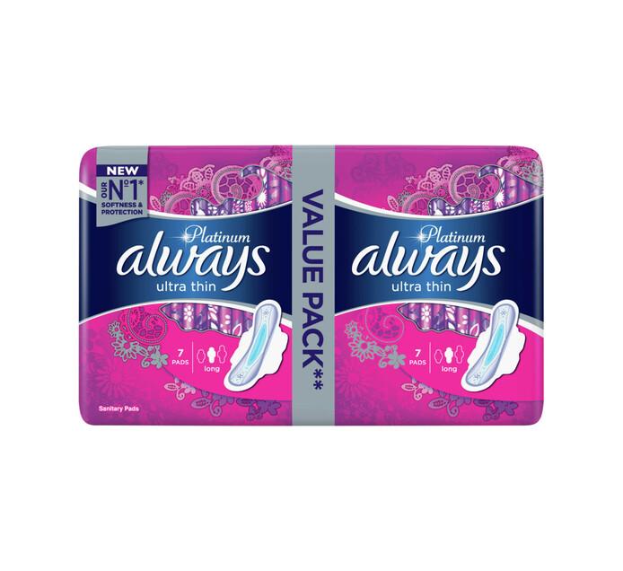 Always Ultra Sanitary Pads Platinum Long (1 x 14's)