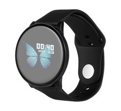 Rocka 1 Black Round Fitness Watch With Heart Rate Monitor