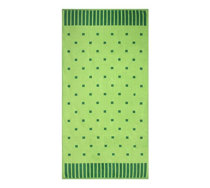 Polka Squares Beach Towel 90x180cms 700gms - Lime Green