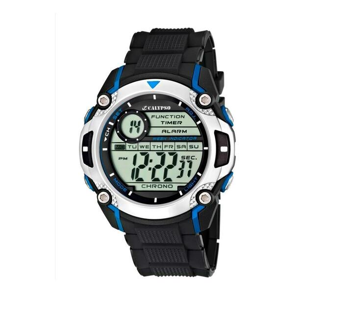 Calypso Digital Mens Week Indicator Watch - Digital Gents Collection