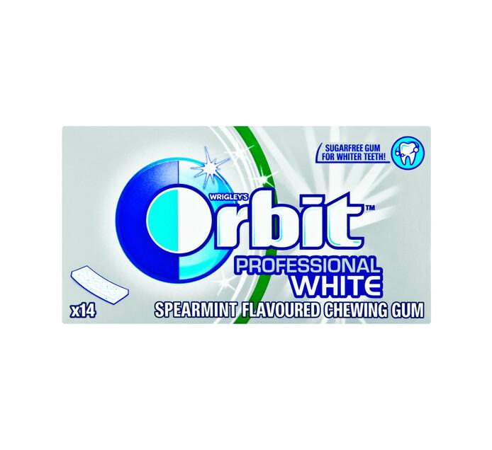 Orbit Sugar Free Prof Gum White (1 x 14PC)