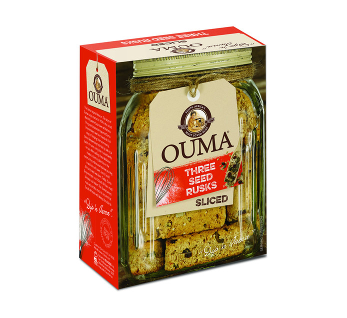 Ouma Ouma Sliced Rusks Three Seed (1 x 450g)