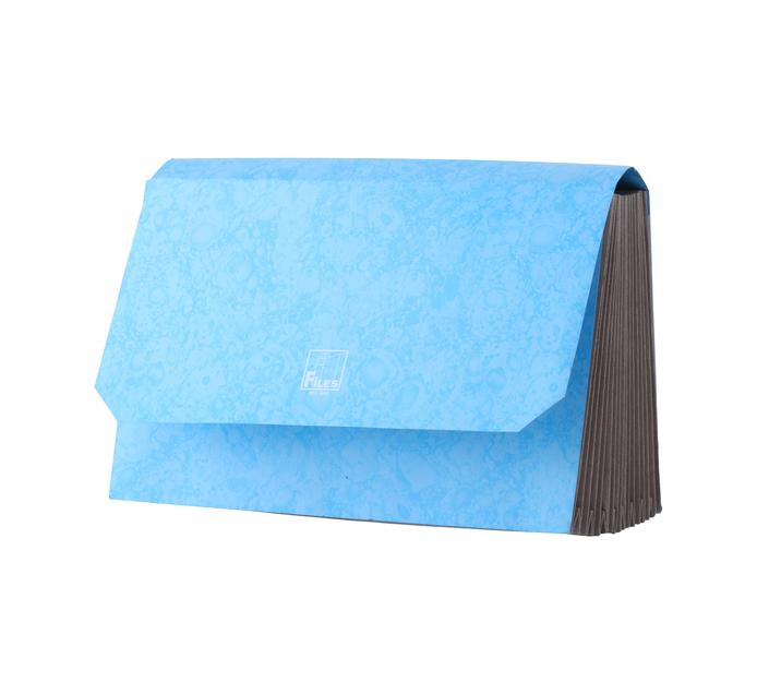 Files Executive Concertina File Blue Each