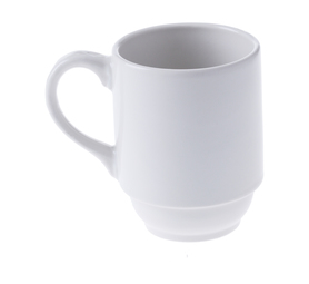 CONTINENTAL CROCKERY 6 pack Blanco Stacking Mugs