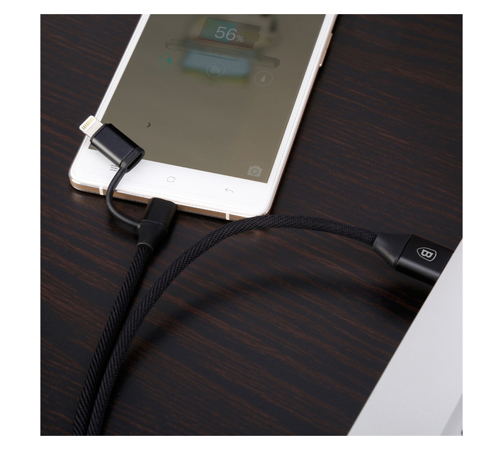 Baseus Yiven 2in1 USB Type-A 2.0 to Micro & Lightning Cable 2A - 1m