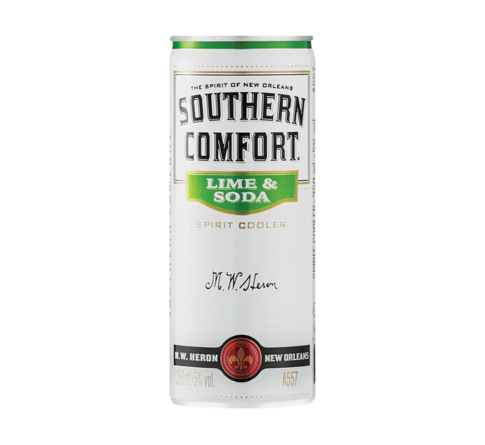 Southern Comfort Lime & Soda Spirit Cooler Can (6 x 250ML)