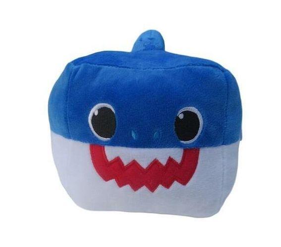 Totland Cube - Baby Shark Singing Plush Toy - Blue