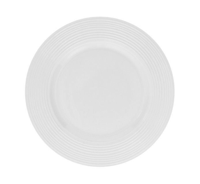 Basic White 19 cm Basic White Ribbed Side Plate
