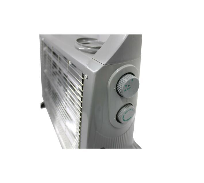 1500W Three Bar Quartz Heater with Fan, Humidifier & Dual Controls - Grey