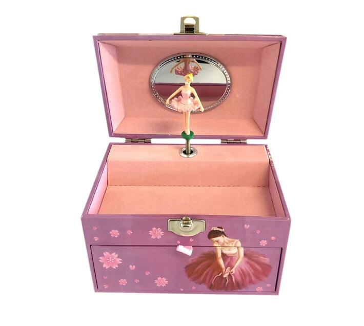 Musical Ballerina Pearl handle design Jewellery Box(With draw)