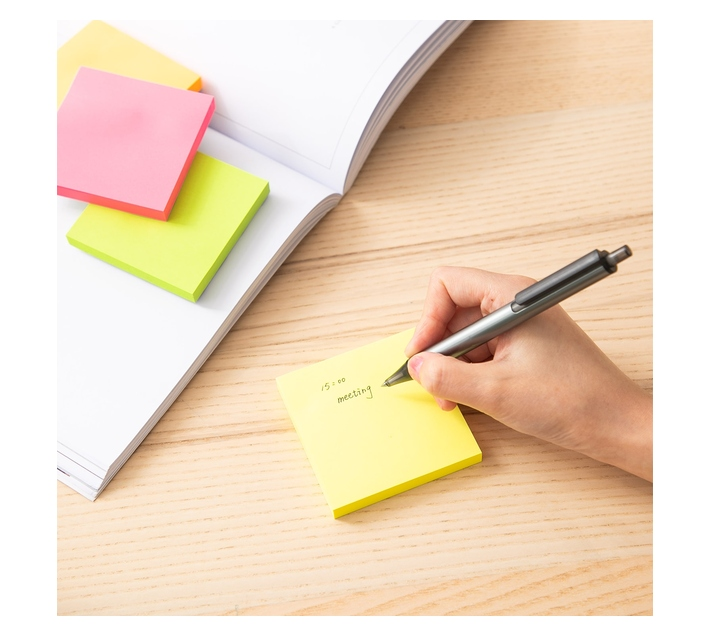 Deli Stationery Pad Notes 76×76Mm 3``×3`` 4*100 Sheets Asst.