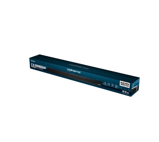 Volkano Kronos Series 40W 2.0 Soundbar with Remote Control, EQ Presets, HDMI ARC and Aux Inputs, and Optical Input