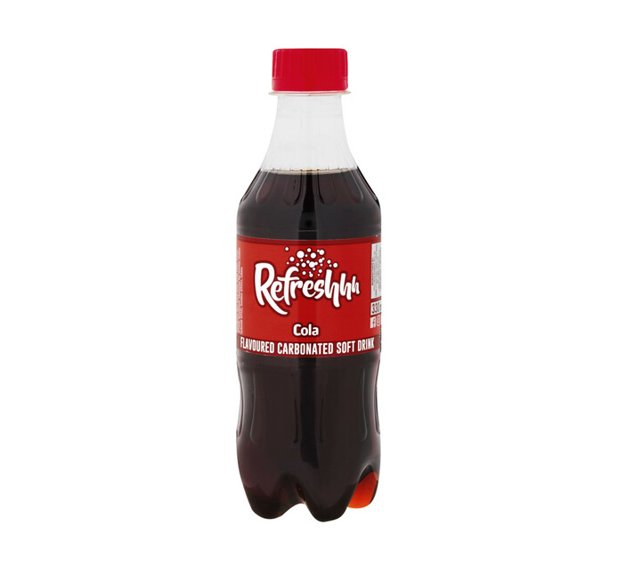 Refreshhh Carbonated Soft Drink Cola (6 x 330ml)