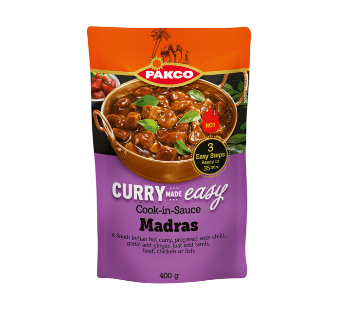 Pakco Curry Made Easy Cook In Sauce Madras (6 x 400g)