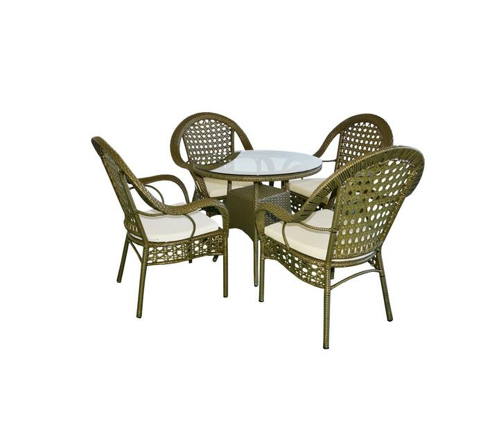 White Garden Table With 4 Chairs