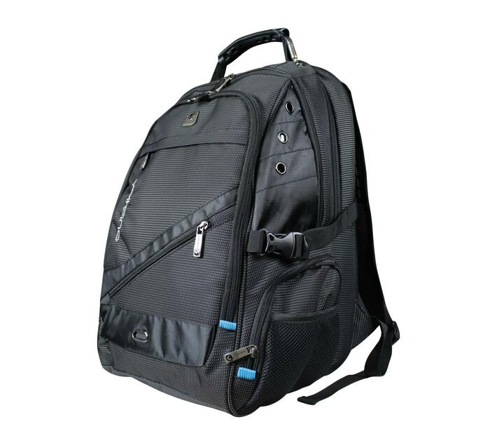 Volkano G-Unit Series 15.6` Backpack in Black with Adjustable, Padded Shoulder Straps for added comfort during wear and Multiple Zippered Compartments