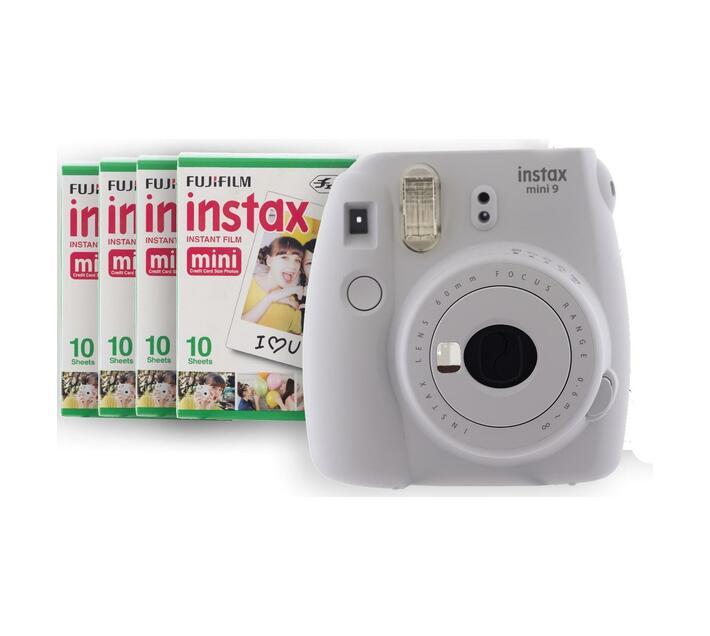 INSTAX Mini 9 Kit 2 Smokey White (camera & 4 films)