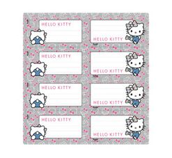Hello Kitty Self-Adhesive Labels 16-Pack