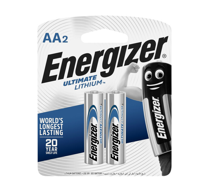 ENERGIZER 2 Pack AA Lithium Batteries