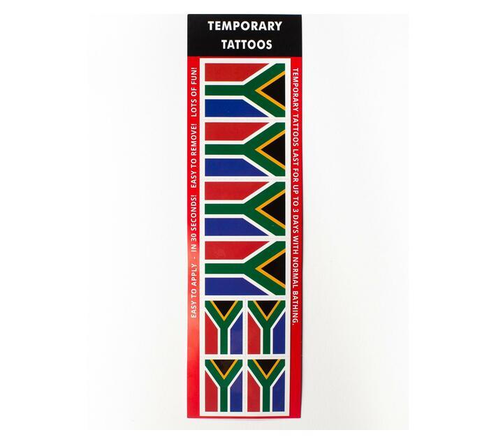 SA Flag Temporary Tattoos (Pack of 24)