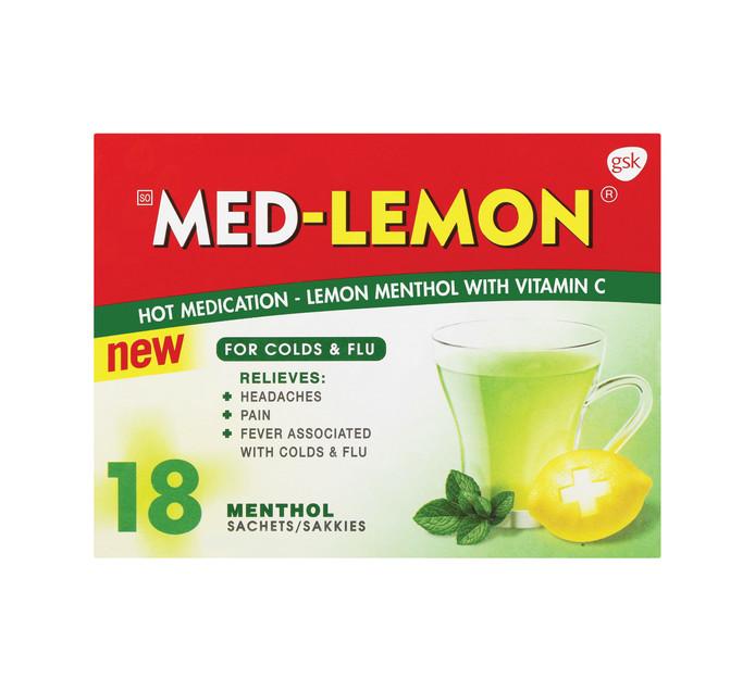 MED-LEMON SACHETS 18'S, LEMON MENTHOL