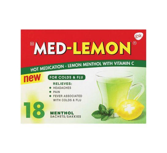 Med-lemon Sachets Lemon Menthol (1 x 18's)