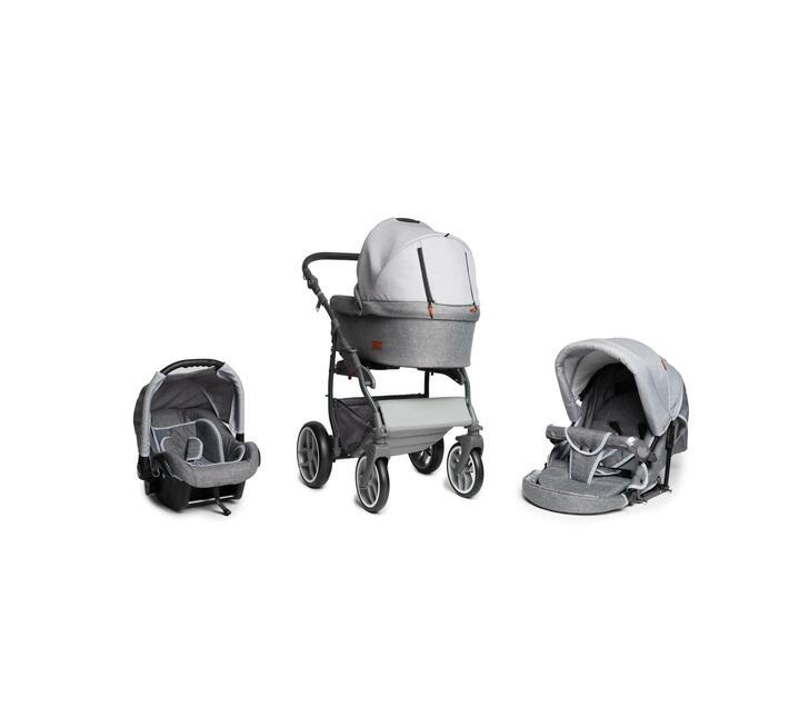Baby Merc Q9 Travel System - Two Tone Grey