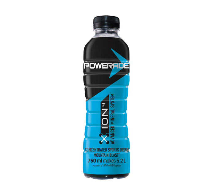 Powerade Sports Drink Concentrate ION4 Mountain Blast (1 x 750ml)
