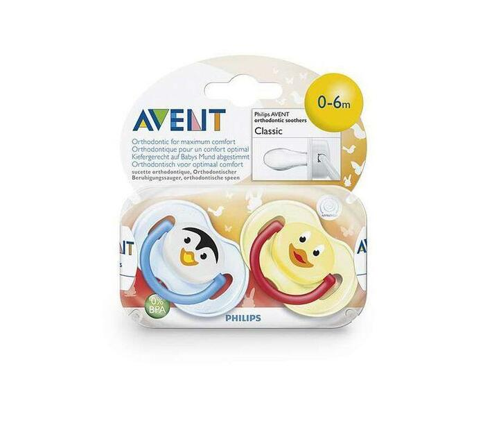 Soother 0-6M Animal - BPA Free Twin Pack