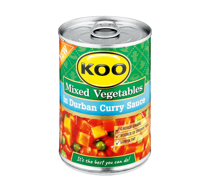 KOO Vegetable Curry Durban Curry Sauce (1 x 410g)