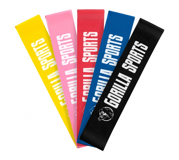 GORILLA SPORTS SA - Yoga starter pack - Black/Red + Aerobic dumbbells 10 kg