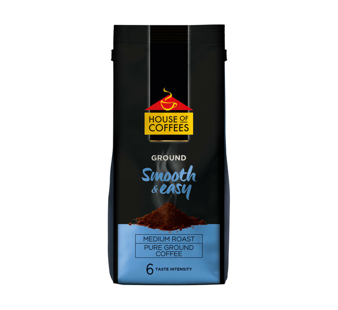 House Of Coffees Ground Coffee Smooth And Easy (1 x 250g)