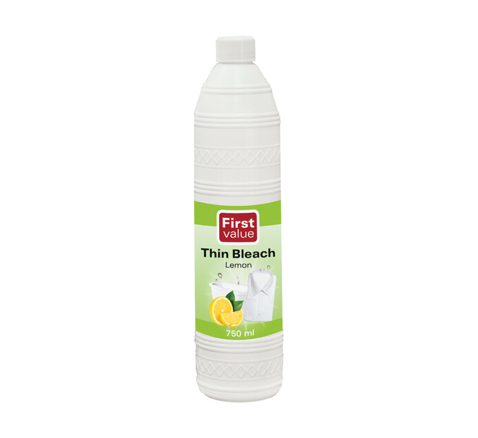 First Value Thin Bleach Lemon (1 x 750ml)
