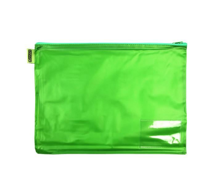 Kenzel A4 PVC Book Bag Green Each