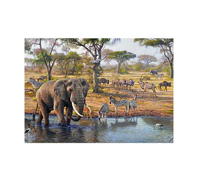 1500-Piece Meeting At The Waterhole Puzzle