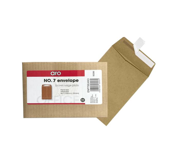 ARO No. 7 Wage Envelopes Brown Plain 500-Pack
