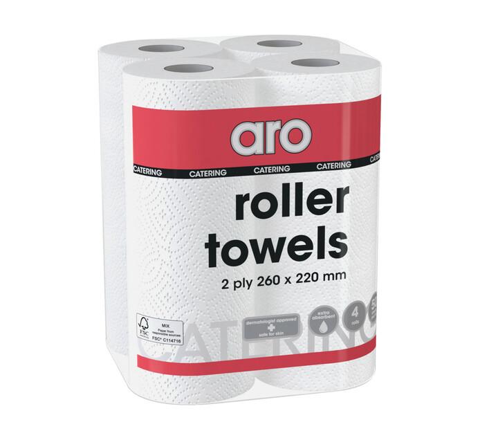 ARO Aro 2 Ply Roller Towels White White (1 x 4's)