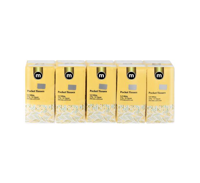 M Brand Pocket Packs 3Ply White (20 x 10's)