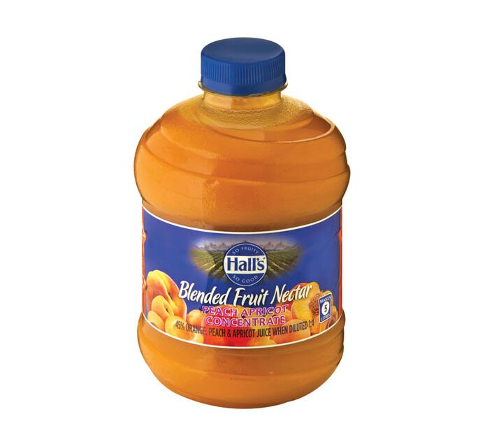 Halls Fruit Juice Peach Apricot (6 x 1L)