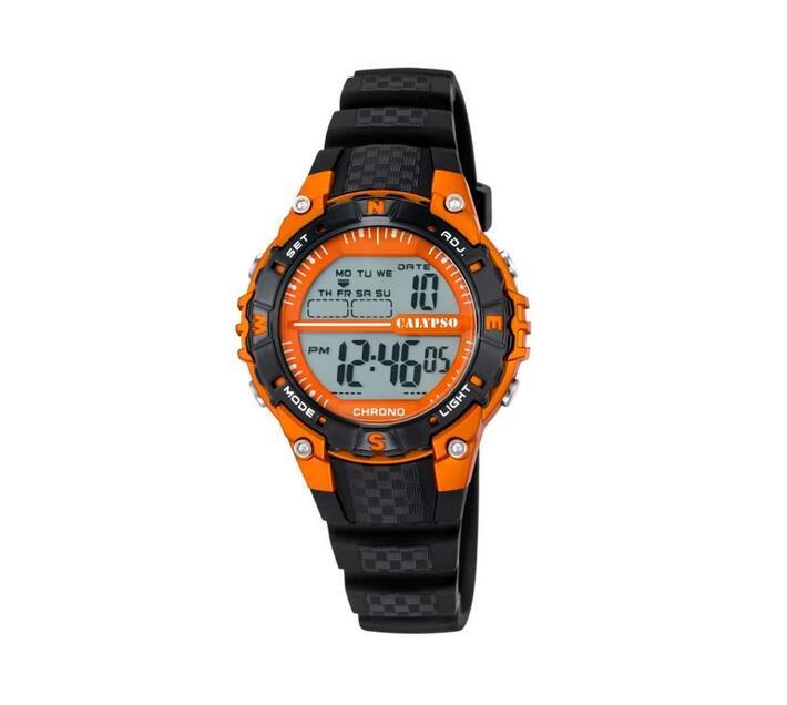 Calypso Digital Sports Kids Week Indicator Watch - Orange