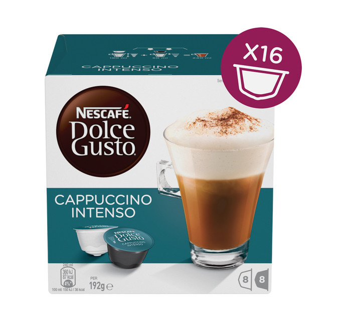 Nescafe Dolce Gusto Coffee Pods Cappuccino Intenso (1 x 192g)