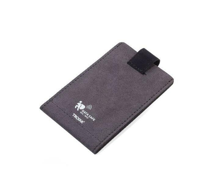 Troika Wallet and Credit Card Case with RFID Protection Velvet Safe Slim