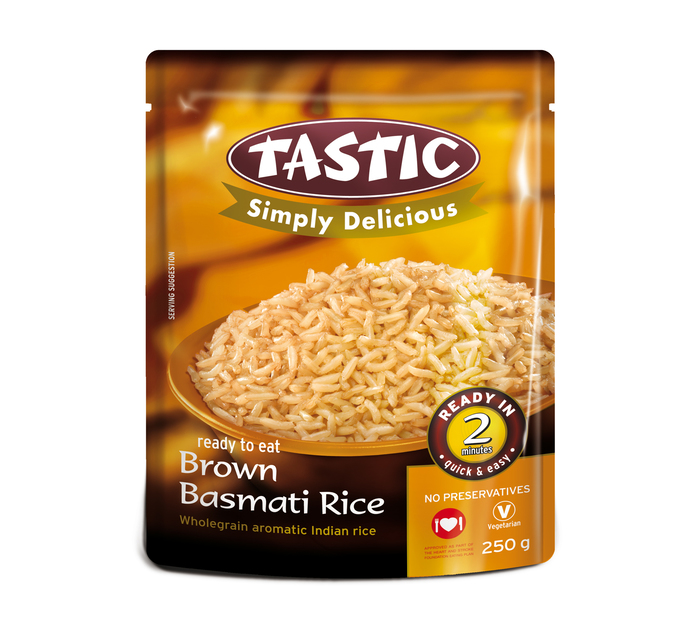 TASTIC Simply Delicious Ready-to-Eat Brown Basmati Rice (1 x 250g)