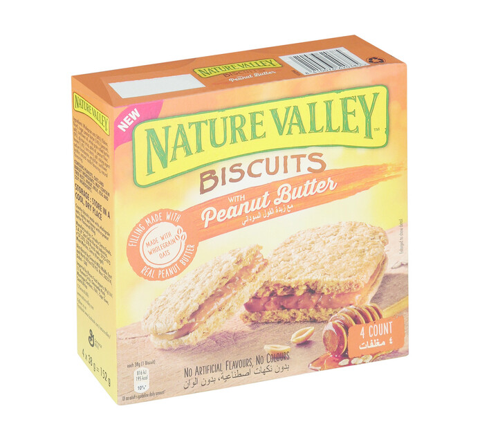Nature Valley Biscuits Multipack Peanut Butter (1 x 4 x 38g)