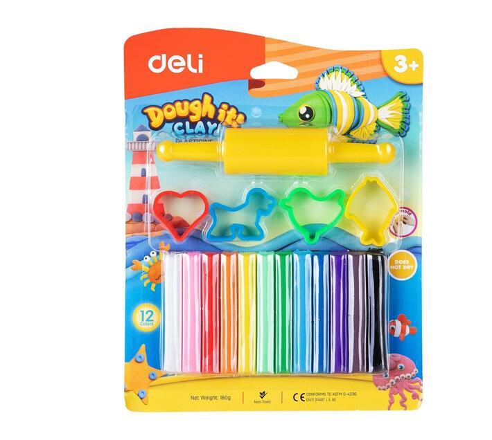 Deli Stationery Plasticine 12 Colors